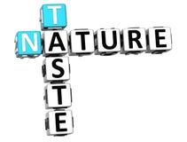 τρισδιάστατο κείμενο σταυρόλεξων φύσης γούστου Στοκ εικόνα με δικαίωμα ελεύθερης χρήσης