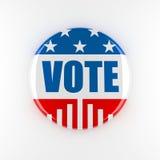 τρισδιάστατο κουμπί αμερικανικής ψηφοφορίας Στοκ φωτογραφία με δικαίωμα ελεύθερης χρήσης