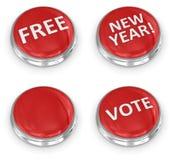 τρισδιάστατο κουμπί Στοκ φωτογραφία με δικαίωμα ελεύθερης χρήσης