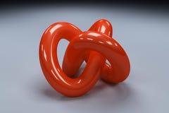 τρισδιάστατο κόκκινο δακτύλιο απεικόνιση αποθεμάτων