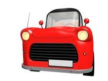 τρισδιάστατο κόκκινο αυτοκίνητο παιχνιδιών με τη μαύρη στέγη στο άσπρο υπόβαθρο Στοκ φωτογραφία με δικαίωμα ελεύθερης χρήσης
