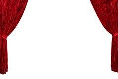 τρισδιάστατο κόκκινο θέατρο απεικόνισης κουρτινών ανασκόπησης Στοκ εικόνα με δικαίωμα ελεύθερης χρήσης
