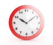 τρισδιάστατο κόκκινο ρολόι τοίχων - Στοκ Εικόνες