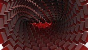 τρισδιάστατο κόκκινο υπόβαθρο κύβων Στοκ Εικόνες