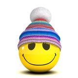 τρισδιάστατο μάλλινο καπέλο Smiley διανυσματική απεικόνιση