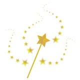 τρισδιάστατο μαγικό λευκό ράβδων Στοκ εικόνα με δικαίωμα ελεύθερης χρήσης