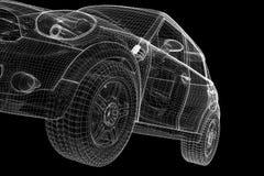 Τρισδιάστατο μοντέλο αυτοκινήτων Στοκ εικόνα με δικαίωμα ελεύθερης χρήσης