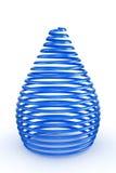 τρισδιάστατο μπλε στιλπνό και shinny αφηρημένο ελατήριο Στοκ Εικόνες