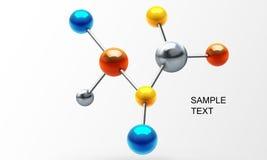 τρισδιάστατο μόριο Στοκ εικόνα με δικαίωμα ελεύθερης χρήσης
