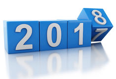 τρισδιάστατο νέο έτος 2018 Στοκ Εικόνα