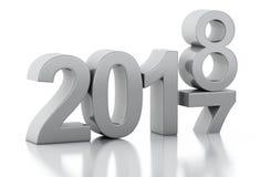 τρισδιάστατο νέο έτος 2018 Στοκ φωτογραφίες με δικαίωμα ελεύθερης χρήσης