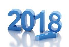 τρισδιάστατο νέο έτος 2018 Στοκ φωτογραφία με δικαίωμα ελεύθερης χρήσης