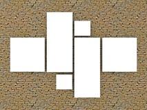 τρισδιάστατο ξύλινο ράφι βιβλίων Στοκ Εικόνες