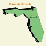 τρισδιάστατο πανεπιστήμιο χαρτών της Φλώριδας (UF, UFL) gainesville ελεύθερη απεικόνιση δικαιώματος