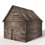 τρισδιάστατο παλαιό ξύλινο υπόστεγο Στοκ φωτογραφία με δικαίωμα ελεύθερης χρήσης