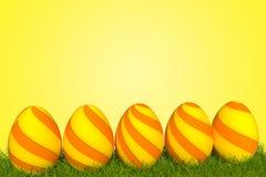 τρισδιάστατο πορτοκάλι αυγών Πάσχας απεικόνισης απεικόνιση αποθεμάτων