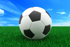 τρισδιάστατο ποδόσφαιρ&omicron στοκ εικόνες