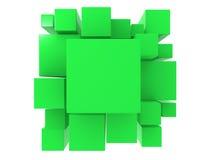 τρισδιάστατο πράσινο αφηρημένο υπόβαθρο Στοκ Φωτογραφία