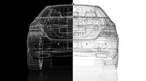 Τρισδιάστατο πρότυπο αυτοκινήτων Στοκ Φωτογραφίες