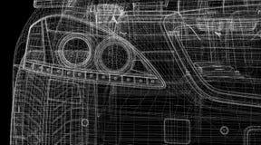 Τρισδιάστατο πρότυπο αυτοκινήτων Στοκ Φωτογραφία