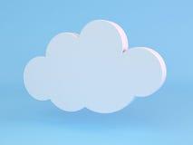 τρισδιάστατο πρότυπο λευκό εικονιδίων σύννεφων Στοκ φωτογραφίες με δικαίωμα ελεύθερης χρήσης
