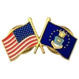 Τρισδιάστατο πρότυπο καρφιτσών σημαιών Πολεμικής Αεροπορίας των Η.Π.Α. στοκ φωτογραφία με δικαίωμα ελεύθερης χρήσης