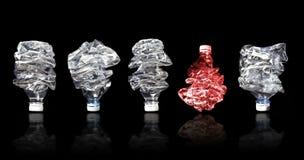 τρισδιάστατο πρότυπο πλαστικό λευκό μπουκαλιών Στοκ Φωτογραφία