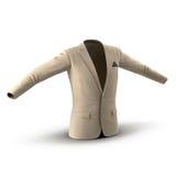 Τρισδιάστατο πρότυπο σακακιών κοστουμιών ατόμων διανυσματική απεικόνιση