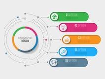τρισδιάστατο πρότυπο Infographic Στοκ Φωτογραφία