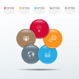 τρισδιάστατο πρότυπο Infographic Στοκ εικόνες με δικαίωμα ελεύθερης χρήσης