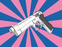 τρισδιάστατο πυροβόλο όπ&l Στοκ φωτογραφία με δικαίωμα ελεύθερης χρήσης