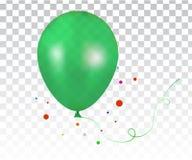τρισδιάστατο ρεαλιστικό πράσινο ζωηρόχρωμο μπαλόνι Στοκ Φωτογραφίες