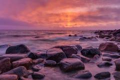 τρισδιάστατο ροζ τοπίων απεικόνισης βραδιού Στοκ εικόνες με δικαίωμα ελεύθερης χρήσης