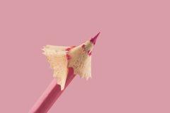 τρισδιάστατο ρόδινο λευκό μολυβιών Στοκ Φωτογραφία