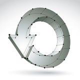 τρισδιάστατο σημάδι αναπροσαρμογών πλέγματος μοντέρνο, ιδέα τεχνολογίας Στοκ φωτογραφία με δικαίωμα ελεύθερης χρήσης