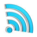 τρισδιάστατο σημάδι WiFi Στοκ Εικόνες