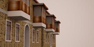 τρισδιάστατο σπίτι Στοκ φωτογραφία με δικαίωμα ελεύθερης χρήσης