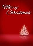 Τρισδιάστατο στάδιο υποβάθρου καρτών δέντρων Χαρούμενα Χριστούγεννας Στοκ Εικόνες