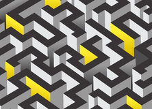 τρισδιάστατο σχέδιο λαβυρίνθου Στοκ εικόνα με δικαίωμα ελεύθερης χρήσης