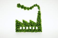 τρισδιάστατο σύμβολο βιομηχανίας οικολογίας Στοκ Εικόνα