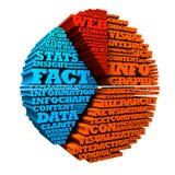 τρισδιάστατο σύννεφο Infographic Word Στοκ εικόνα με δικαίωμα ελεύθερης χρήσης