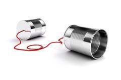 τρισδιάστατο τηλέφωνο κασσίτερων μετάλλων Στοκ Φωτογραφία