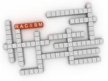 τρισδιάστατο υπόβαθρο σύννεφων λέξης έννοιας ζητημάτων ρατσισμού εικόνας απεικόνιση αποθεμάτων