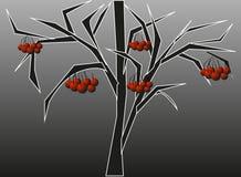 τρισδιάστατο υψηλό απομονωμένο απεικόνιση λευκό δέντρων σορβιών διάλυσης Στοκ εικόνες με δικαίωμα ελεύθερης χρήσης