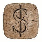 τρισδιάστατο χρήματα σύμβολο απεικόνισης δολαρίων Στοκ εικόνες με δικαίωμα ελεύθερης χρήσης