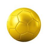 τρισδιάστατο χρυσό κλασικό απομονωμένο - αθλητισμός - σφαίρα παιχνίδι ποδοσφαίρου - Παγκόσμιο Κύπελλο Στοκ Εικόνα