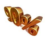 τρισδιάστατο χρυσό σημάδι έκπτωσης 90 ενενήντα τοις εκατό διανυσματική απεικόνιση