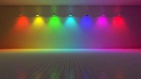 τρισδιάστατο χρώμα εσωτερικός-φάσματος διανυσματική απεικόνιση