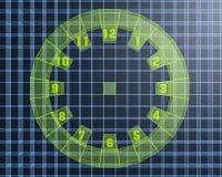 τρισδιάστατο ψηφιακό ρολόι Στοκ Εικόνα