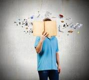 τρισδιάστατο όμορφο άτομο τρία απεικόνισης αριθμού βιβλίων διαστατικό πολύ Στοκ Φωτογραφία